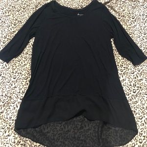 Size 14/16 Lane Bryant black tunic